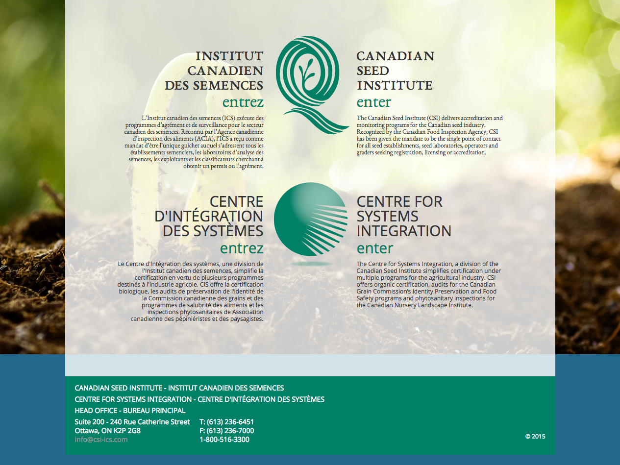 Canadian Seed Institute / Canadian Institute of Systems Integration
