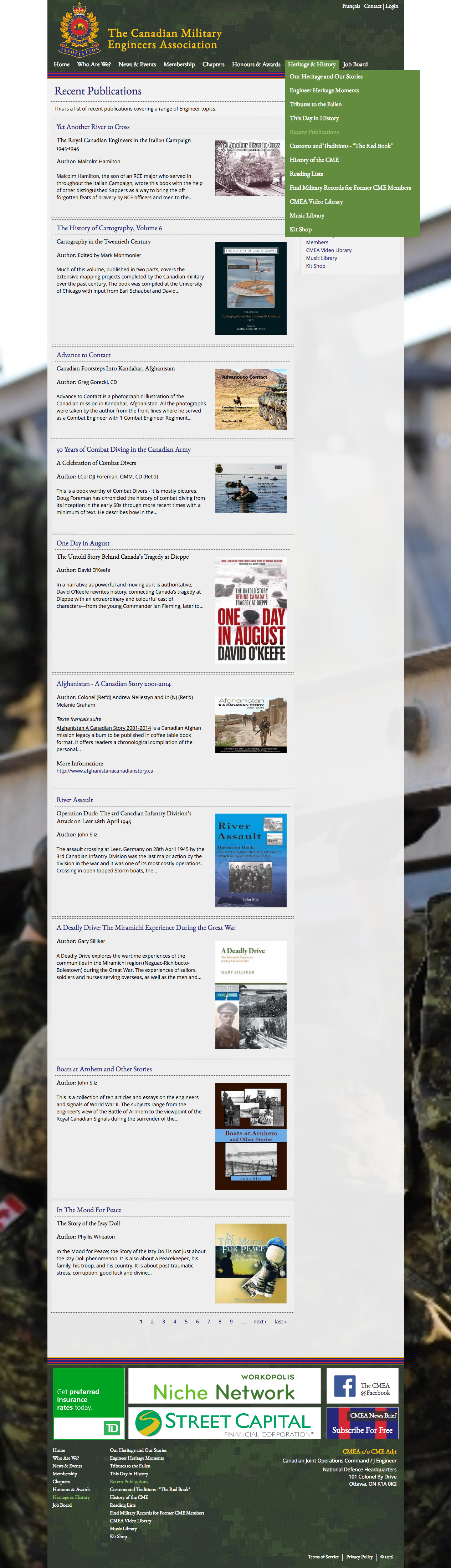 The Canadian Military Engineers Association